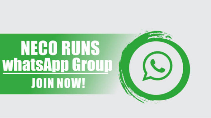 2021 Neco Runs WhatsApp Group Link